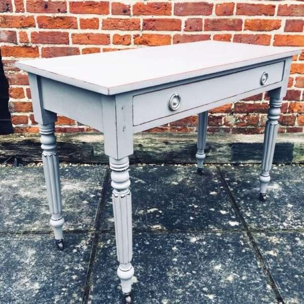 William IV Painted Mahogany Side Table1
