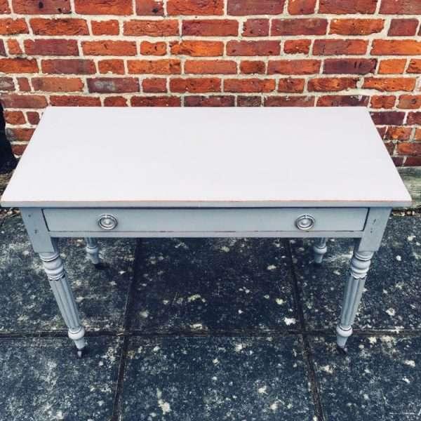 William IV Painted Mahogany Side Table3