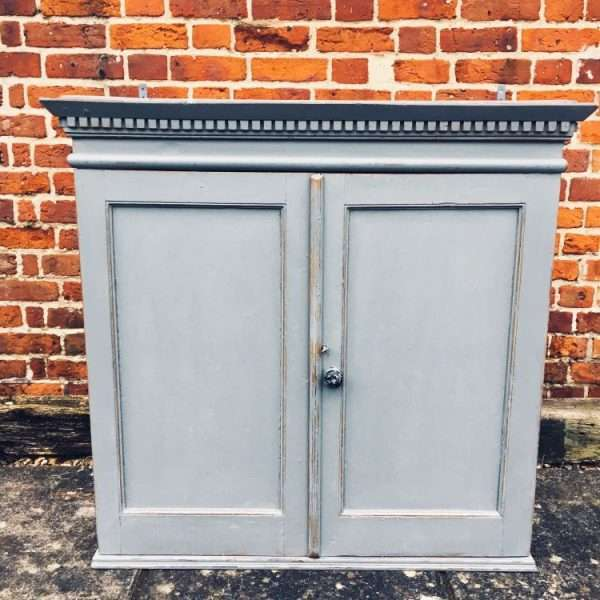 Early 19th Century Painted Pine Hanging Cupboard