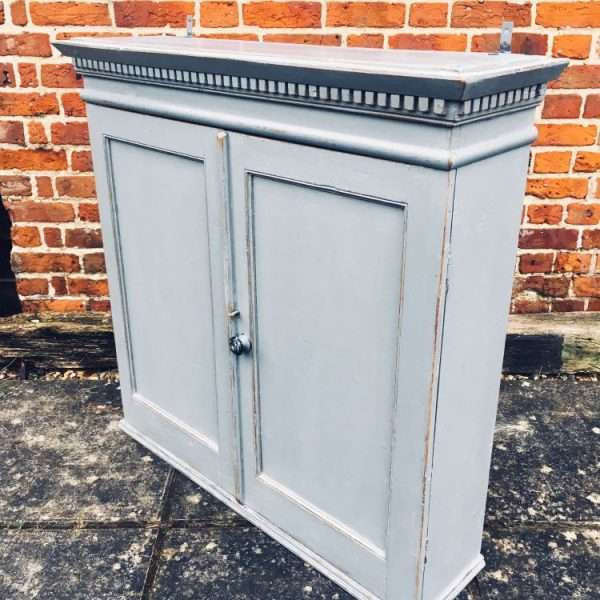 Early 19th Century Painted Pine Hanging Cupboard3