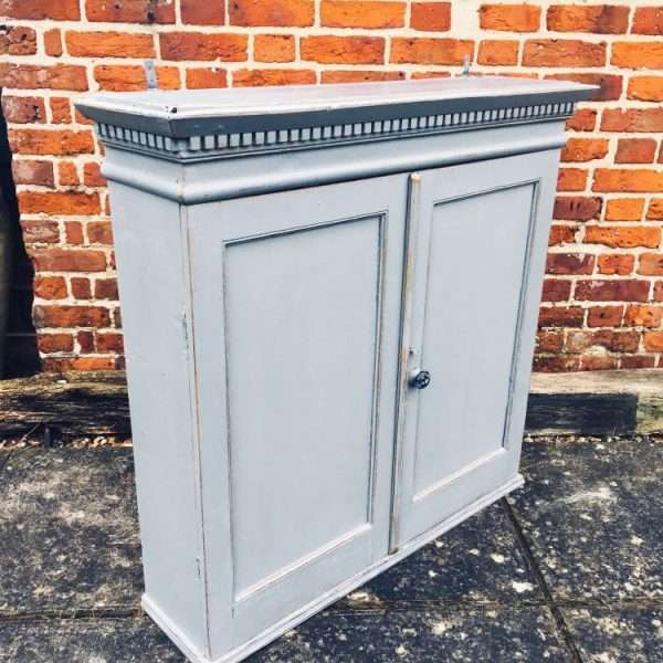Early 19th Century Painted Pine Hanging Cupboard4