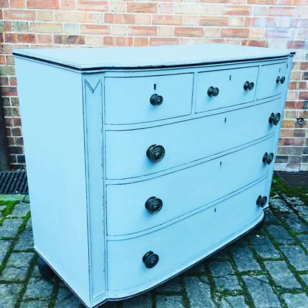 Regency Painted Mahogany Chest Of Drawers2