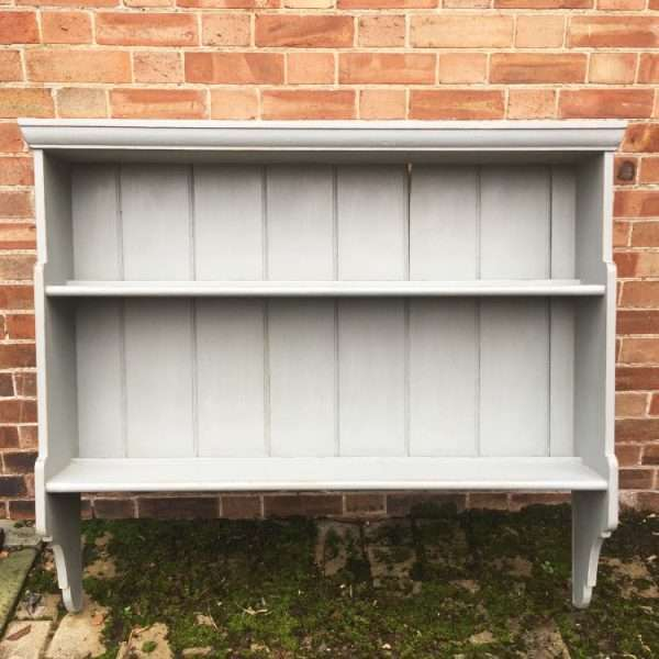 Mid Victorian Painted Pine Hanging Shelves (1)