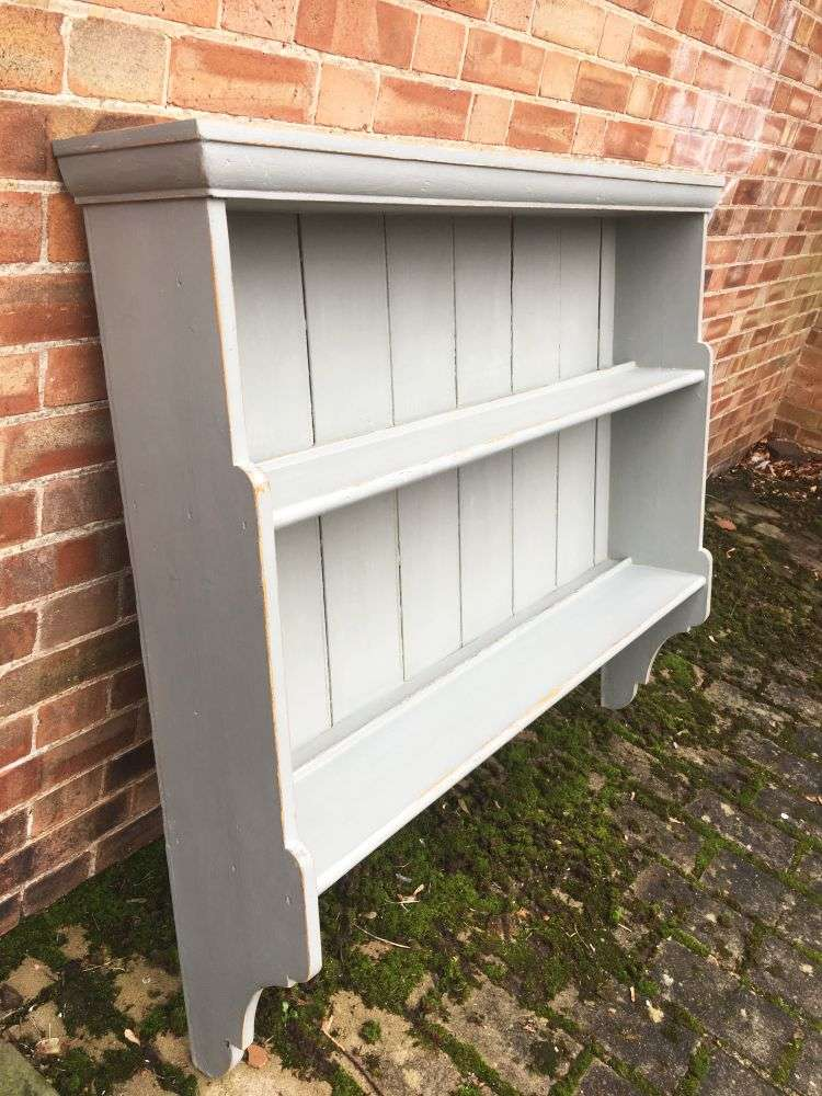 Mid Victorian Painted Pine Hanging Shelves (2)