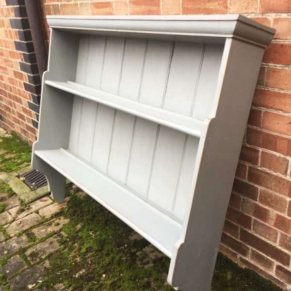 Mid Victorian Painted Pine Hanging Shelves (3)