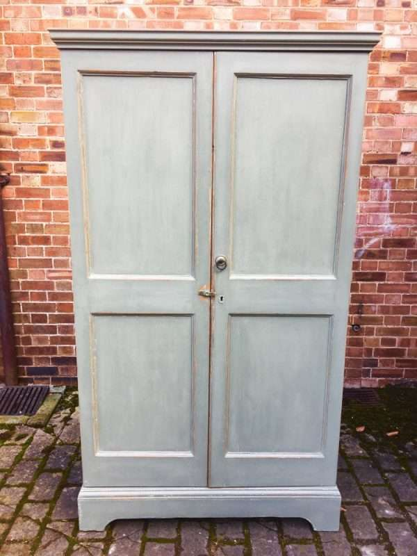 Early 19th Century Painted Pine Linen Cupboard SOLD – Ref:1384
