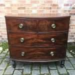 George IV Mahogany Bow Front Chest Of DrawersSOLD  – Ref:1380