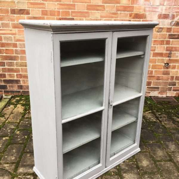 Mid Victorian Painted Mahogany Hanging Cupboard1