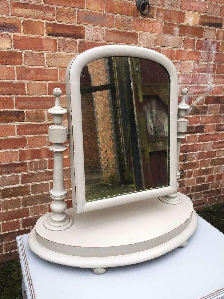 Mid Victorian Painted Mahogany Toilet Mirror 2