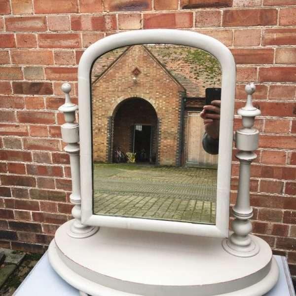 Mid Victorian Painted Mahogany Toilet Mirror 1