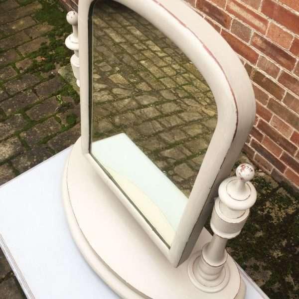 Mid Victorian Painted Mahogany Toilet Mirror