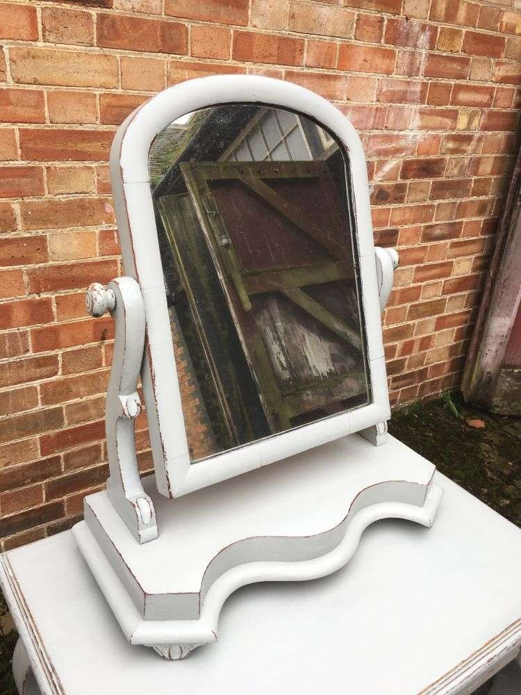 Mid Victorian Painted Mahogany Swing Mirror2