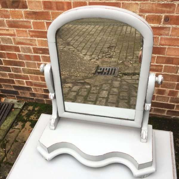 Mid Victorian Painted Mahogany Swing Mirror1