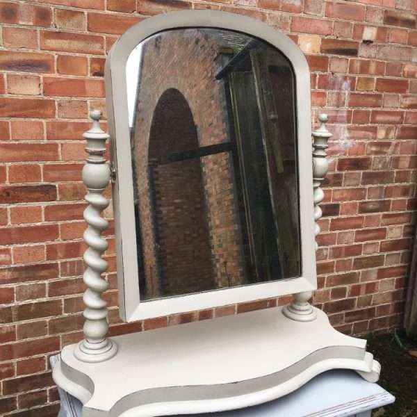 Mid Victorian Large Painted Mahogany Toilet Mirror3