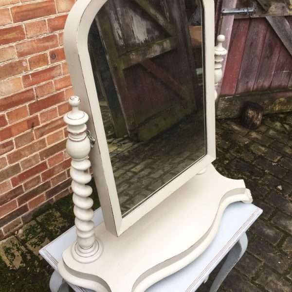 Mid Victorian Large Painted Mahogany Toilet Mirror2