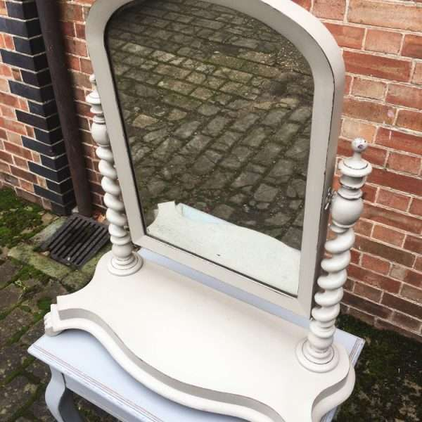 Mid Victorian Large Painted Mahogany Toilet Mirror1