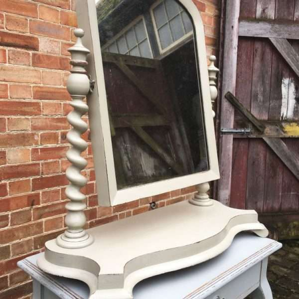 Mid Victorian Large Painted Mahogany Toilet Mirror