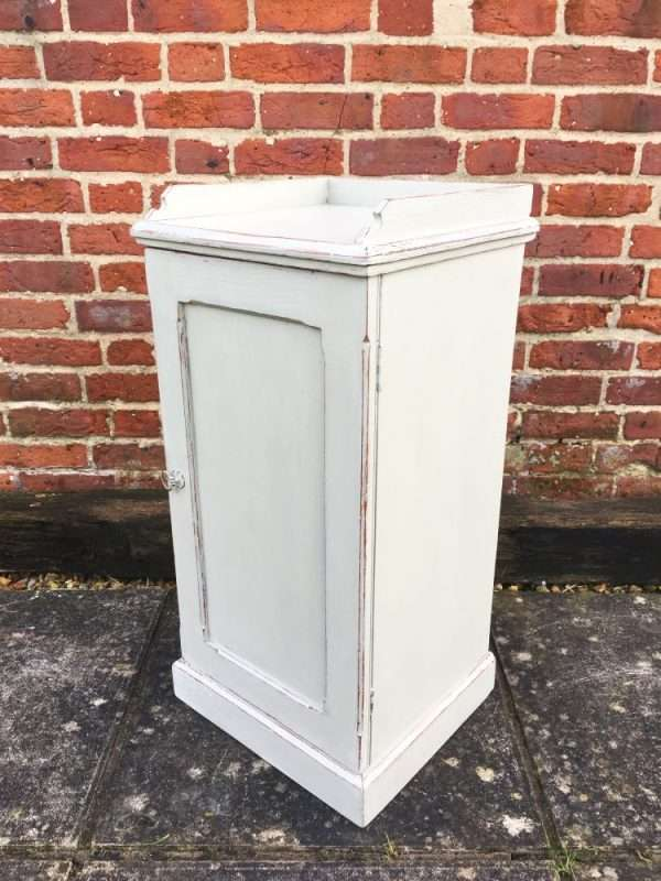 Mid Victorian Painted Pine Bedside Cupboard SOLD – Ref:1378
