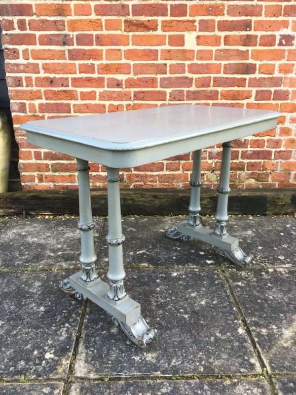 William IV Painted Beech & Pine Writing Table £275 – Ref:1379