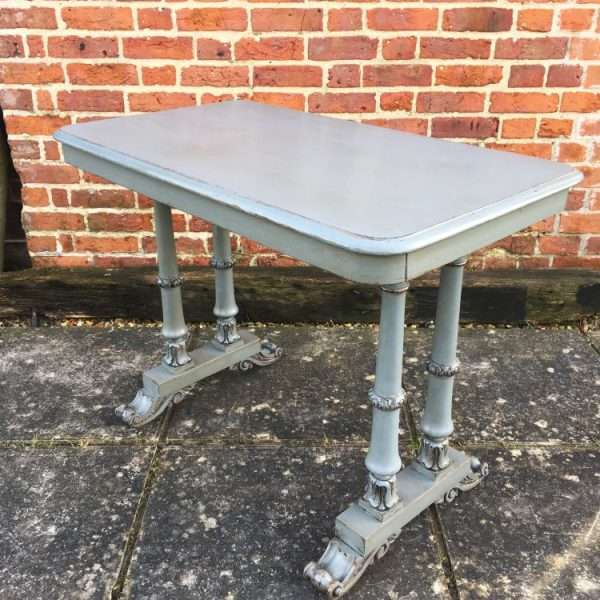 William IV Painted Beech & Pine Writing Table2