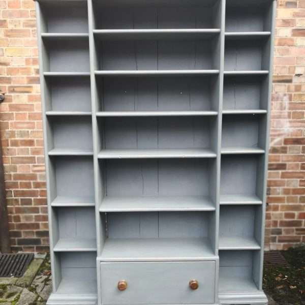 Mid Victorian Painted Pine Kitchen Shelves4