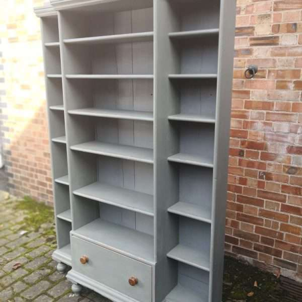 Mid Victorian Painted Pine Kitchen Shelves3