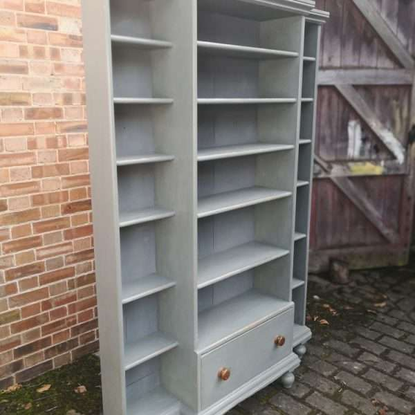 Mid Victorian Painted Pine Kitchen Shelves2