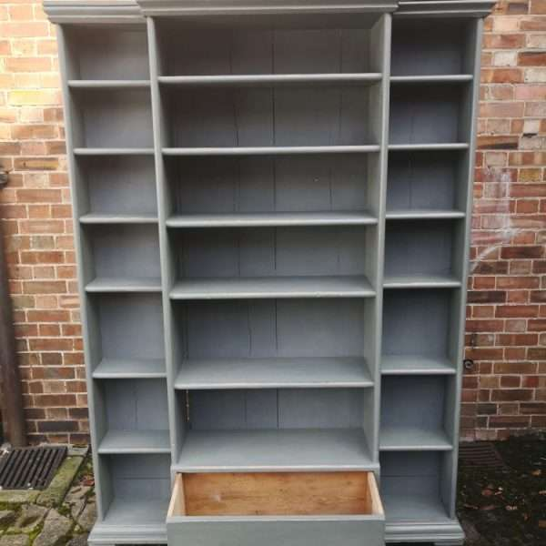 Mid Victorian Painted Pine Kitchen Shelves1