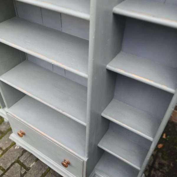 Mid Victorian Painted Pine Kitchen Shelves