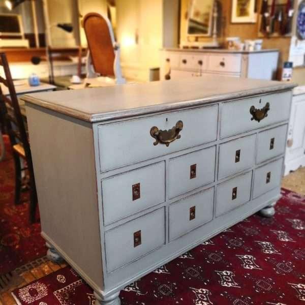 Mid Victorian Painted Oak Shop Counter