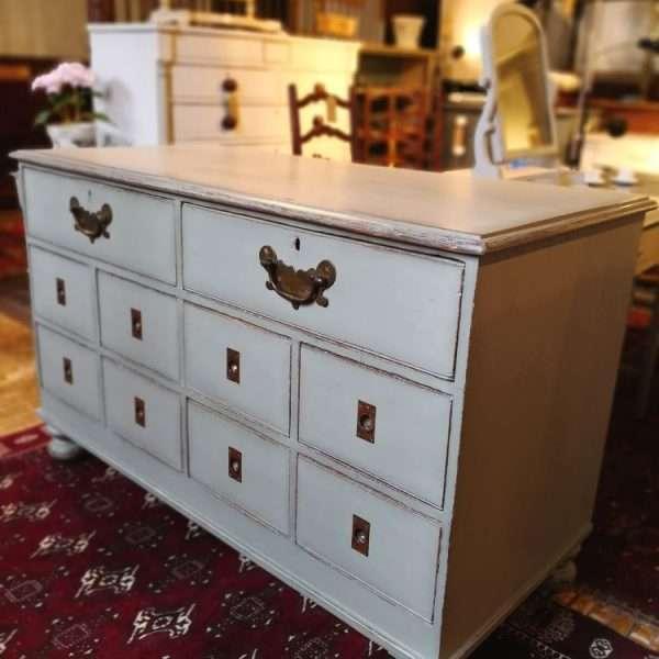 Mid Victorian Painted Oak Shop Counter1