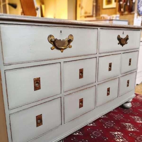 Mid Victorian Painted Oak Shop Counter2