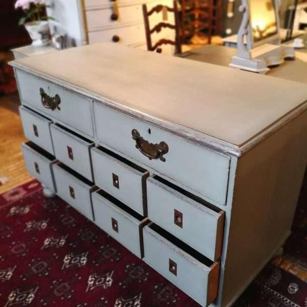 Mid Victorian Painted Oak Shop Counter4