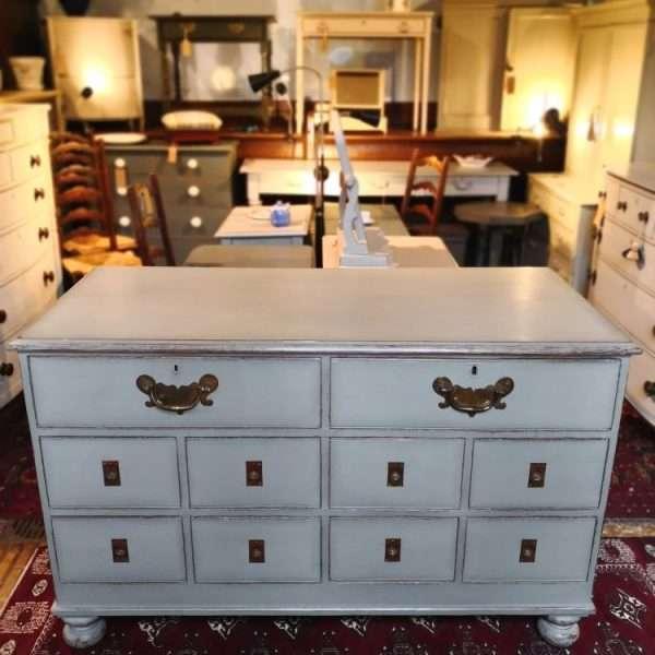 Mid Victorian Painted Oak Shop Counter5