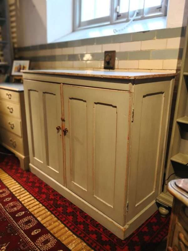 Mid 19th Century Painted Pine Linen Cupboard SOLD – Ref:1390