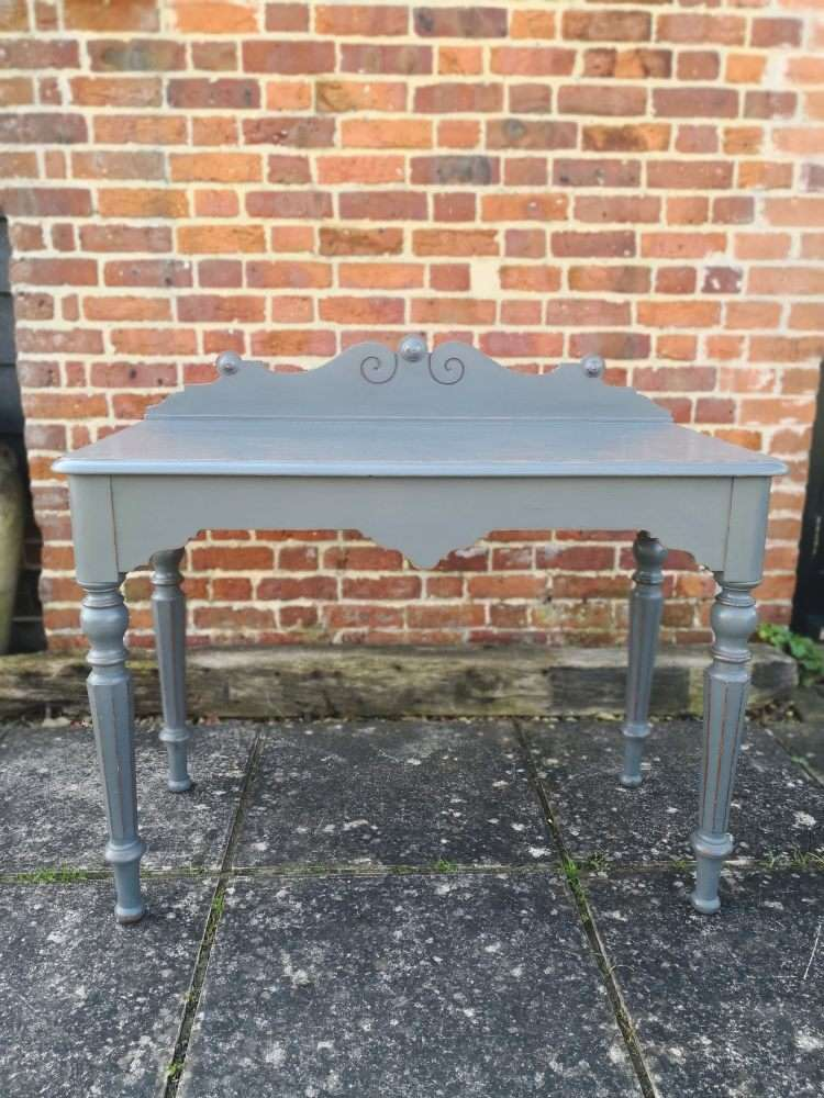 William IV Painted Oak Hall Table