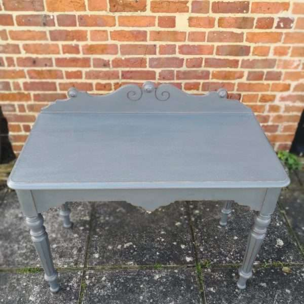 William IV Painted Oak Hall Table1