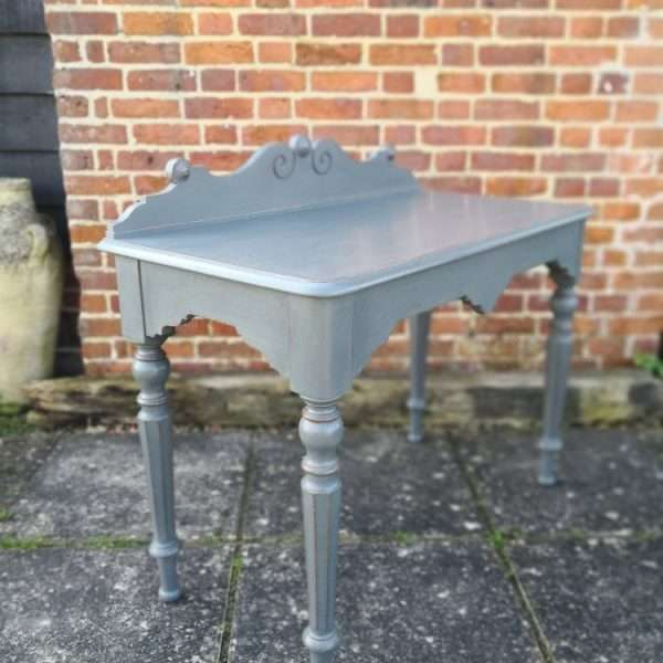 William IV Painted Oak Hall Table2