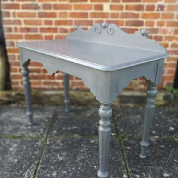 William IV Painted Oak Hall Table3