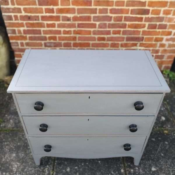 Early 19th Century Painted Mahogany Chest Of Drawers2