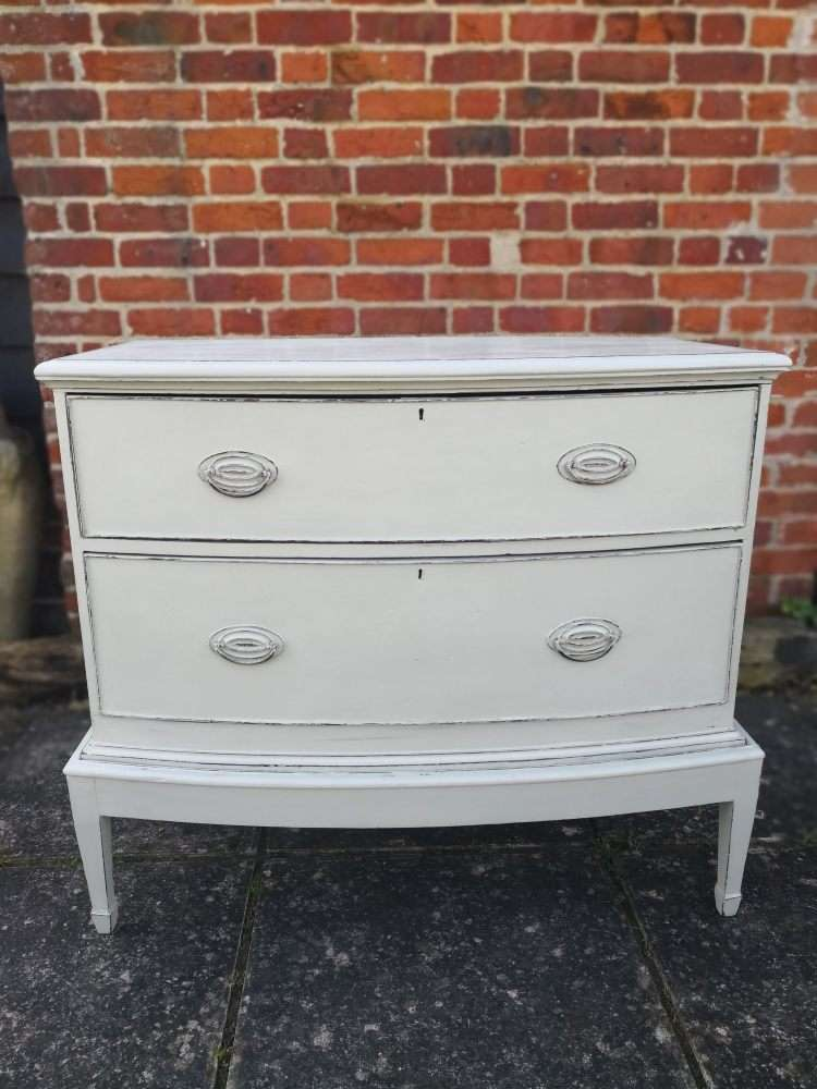 Edwardian Painted Mahogany Chest On Stand