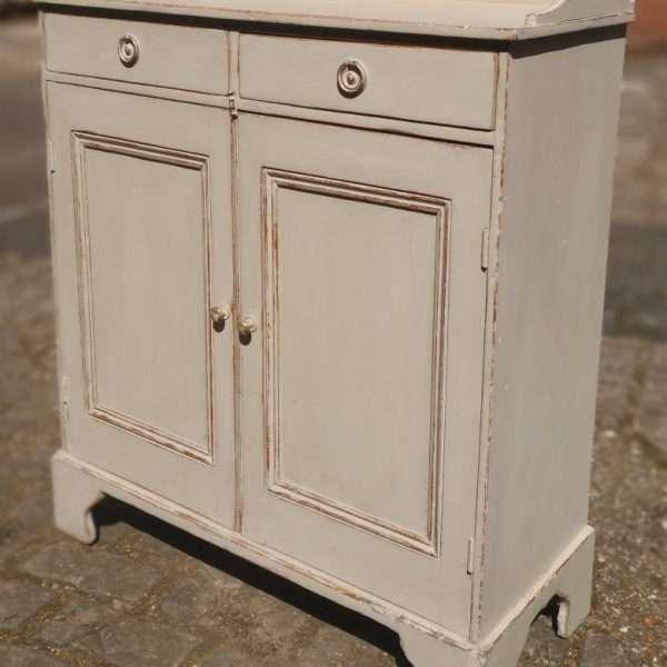 Mid 19th Century Painted Pine Cottage Dresser1
