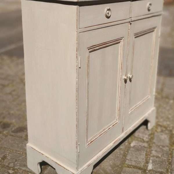 Mid 19th Century Painted Pine Cottage Dresser2