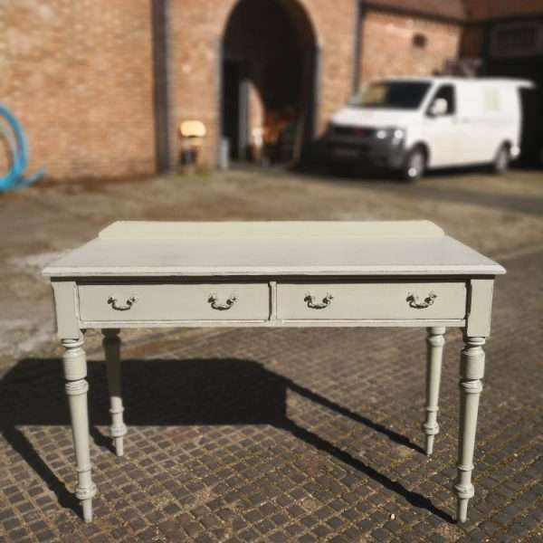 Mid Victorian Painted Pitch Pine Dressing Table