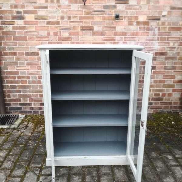 Edwardian Painted Mahogany Glazed Bookcase