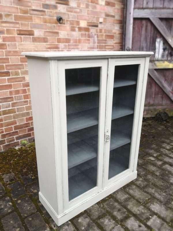 Edwardian Painted Mahogany Glazed Bookcase SOLD – Ref:1398