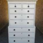19th Century Painted Mahogany Tall Boy Chest SOLD – Ref:1414