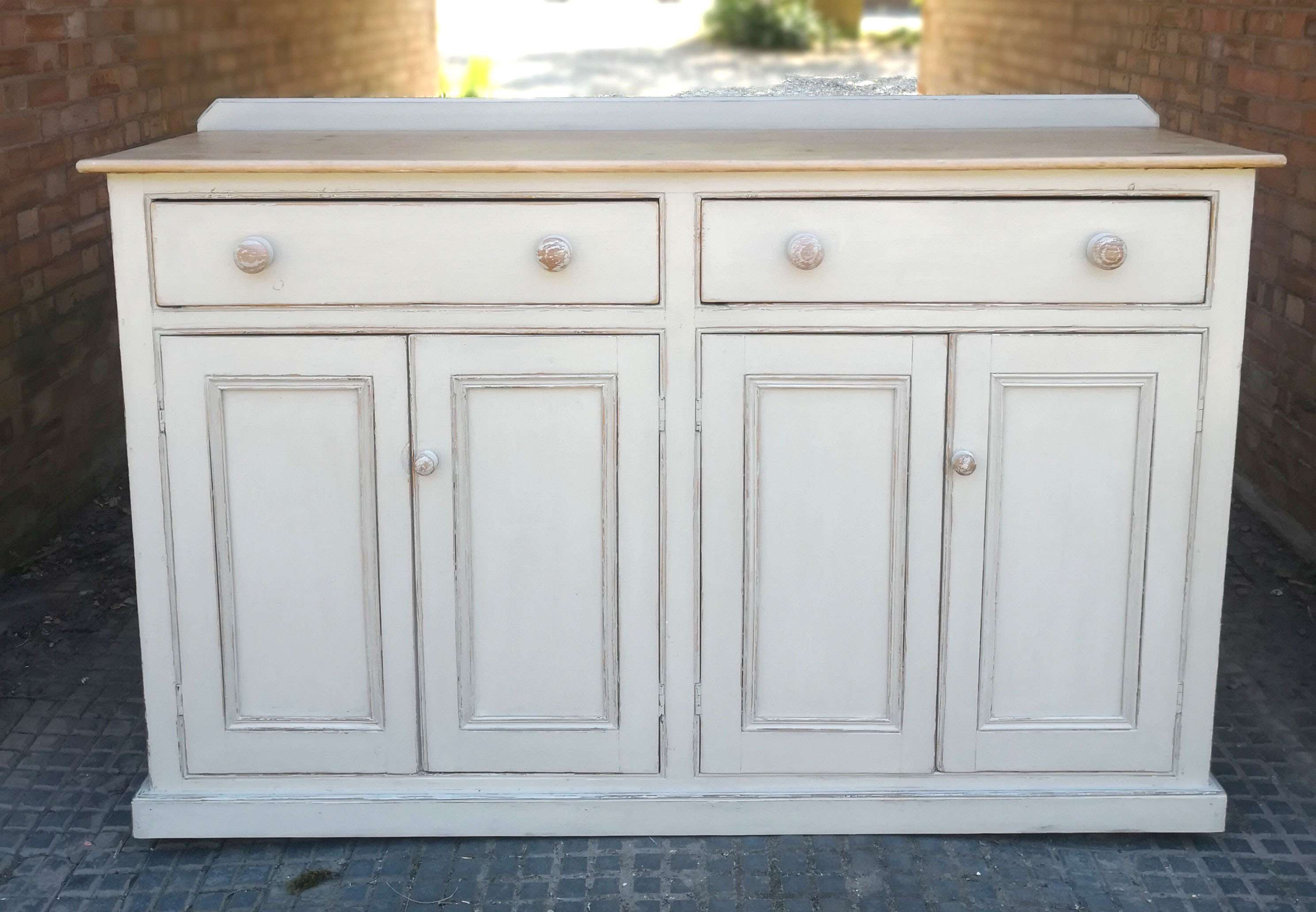 Victorian Painted Pine Kitchen Dresser Base