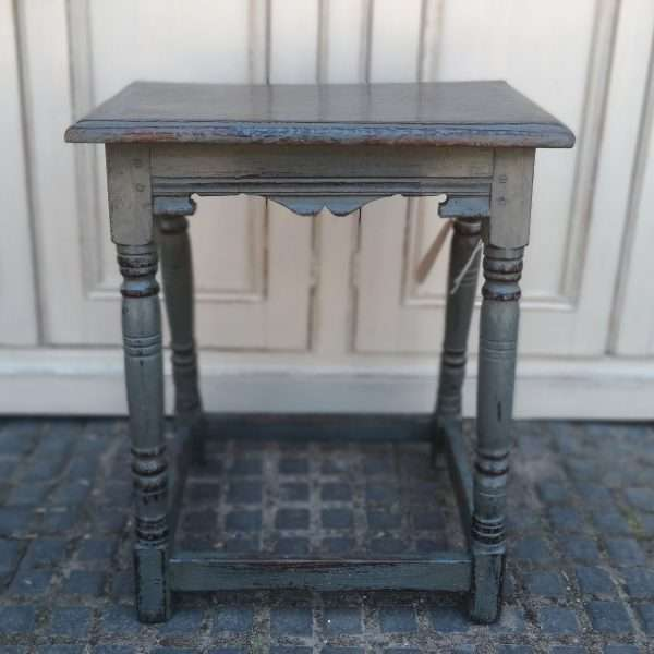 Early 19th Century Painted Oak Stool
