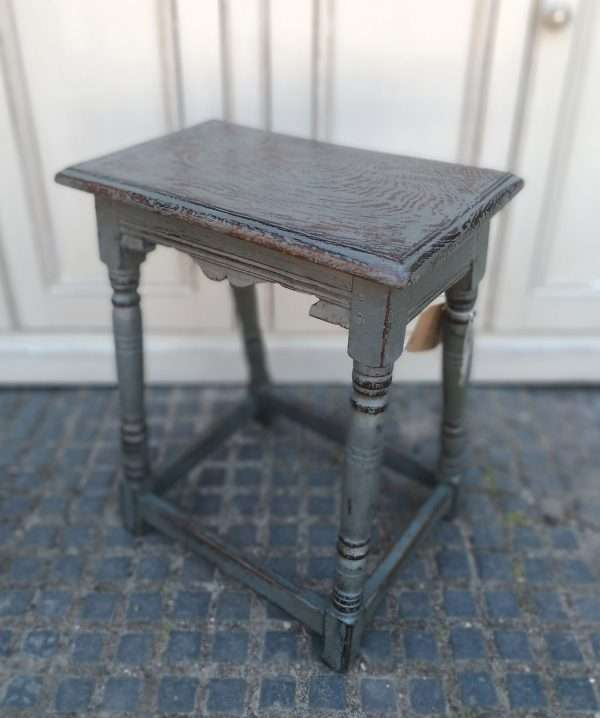 Early 19th Century Painted Oak Stool SOLD – Ref:1411